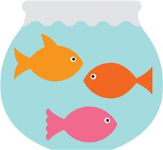 Fish bowl with fish clipart.