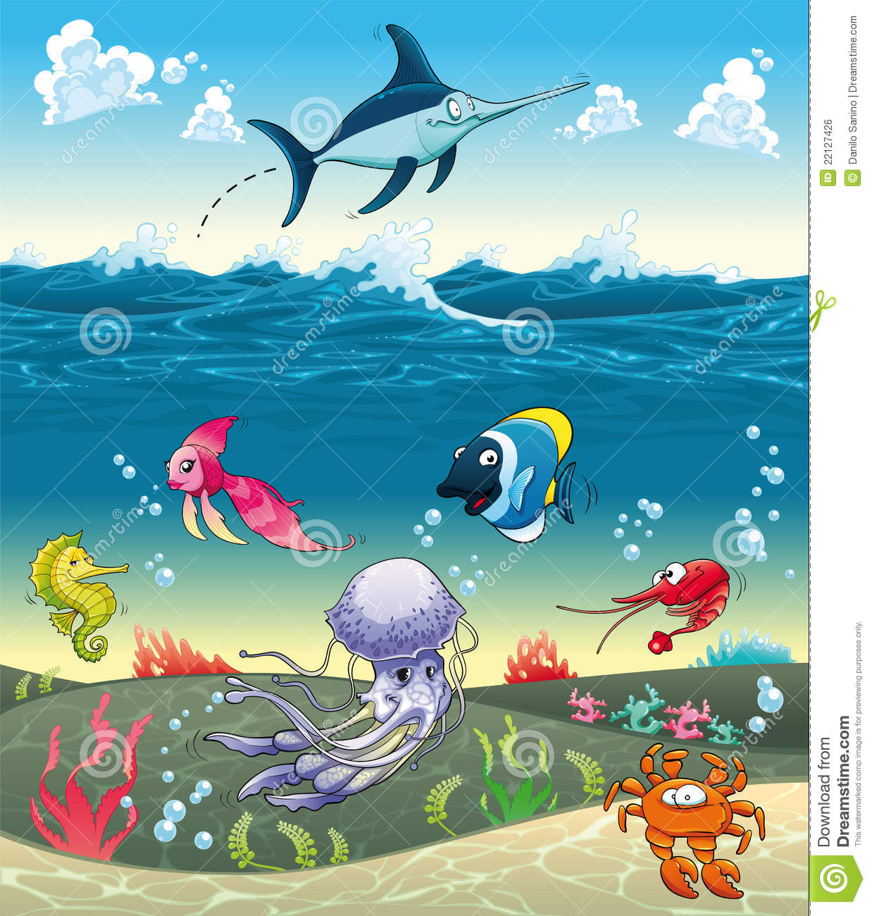 Cartoon Fish Stock Photos, Images, & Pictures.