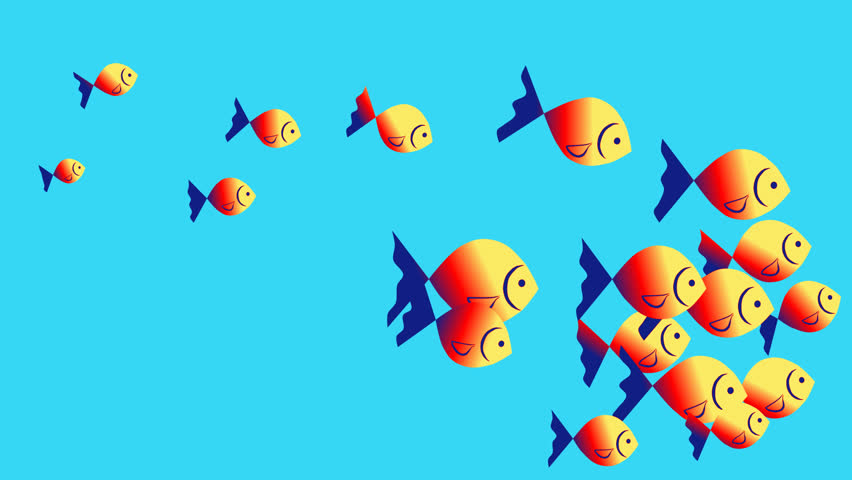 Transition. Fish. Clipart, Animation Swimming Stock Footage Video (100%  Royalty.