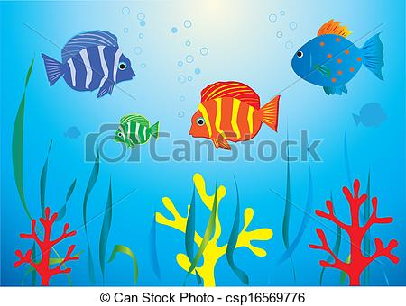 Fish under water Clipart Vector Graphics. 4,310 Fish under water EPS.
