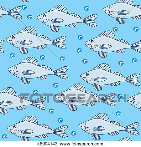 School of fish in the water Clipart.