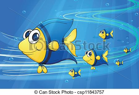 Clipart Of Fish In Water.