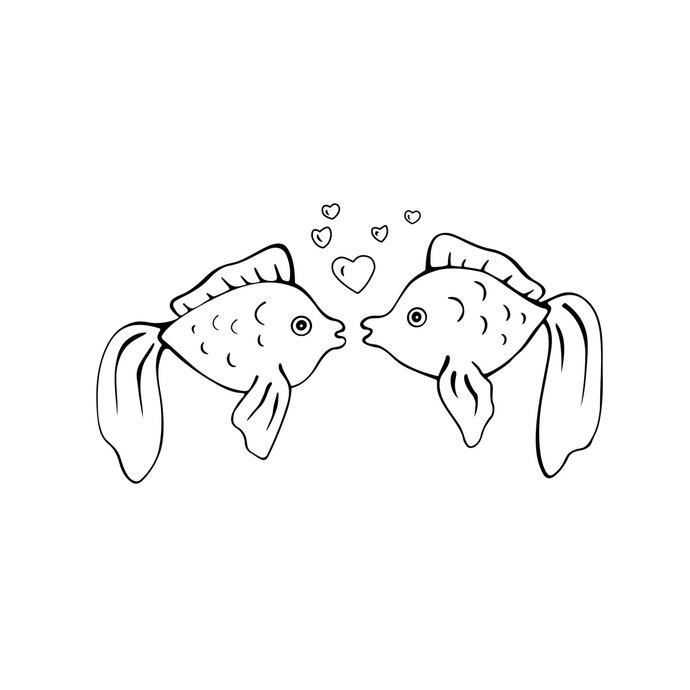 Love Fish Clipart.