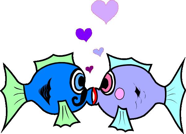 Kissing Fish clip art.