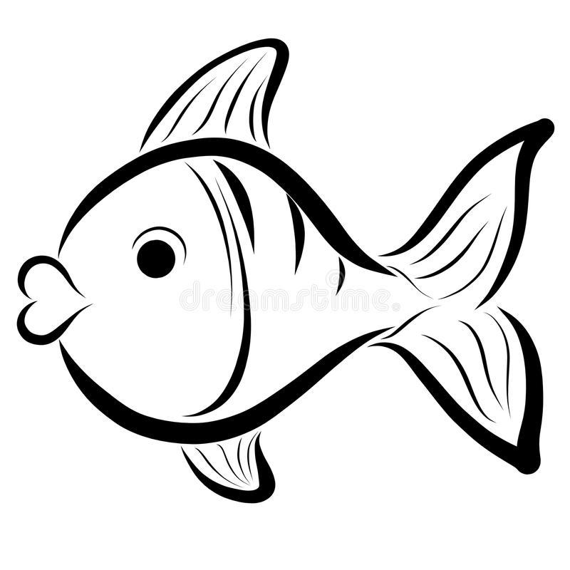 Fish Lips Stock Illustrations.