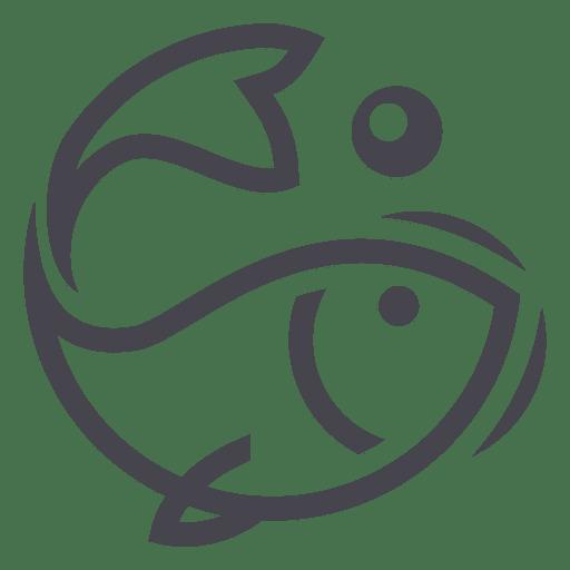 Fishing fish logo icon.