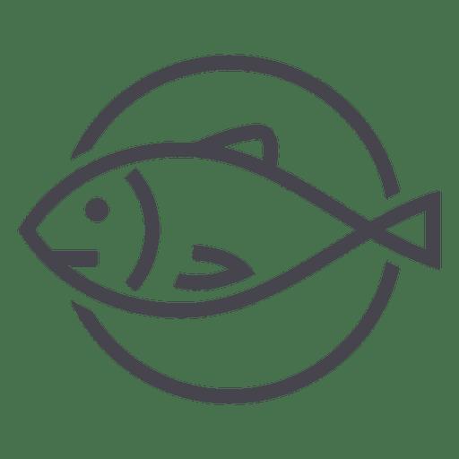 Fishing fish animal icon logo.