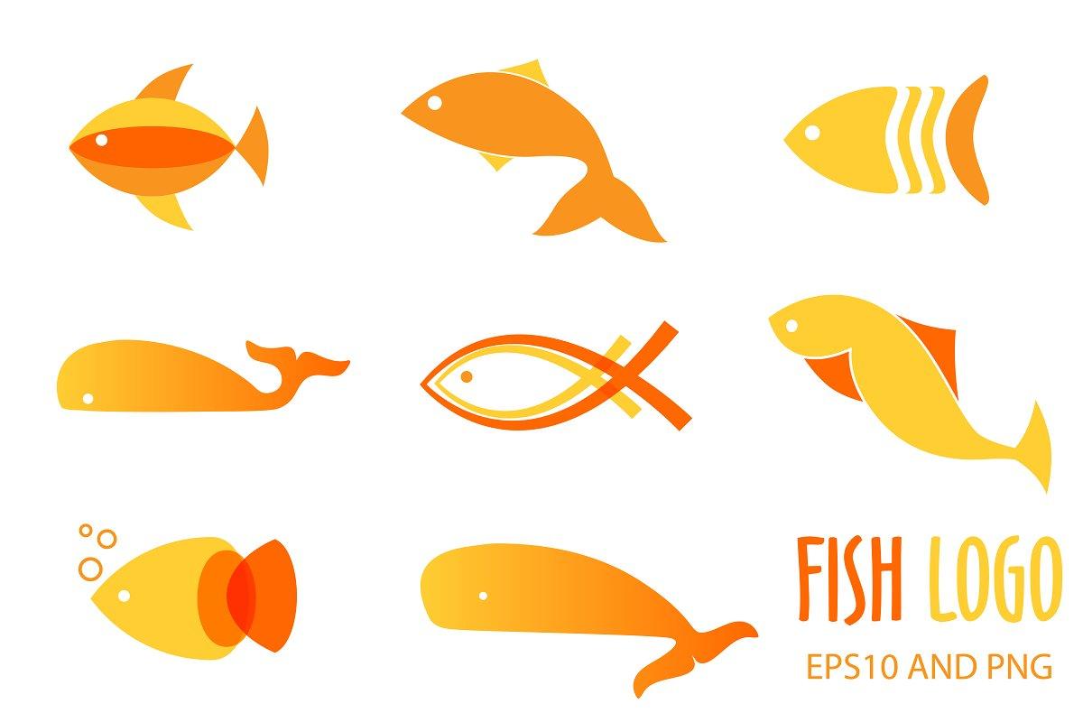 Fish logo or icon set.