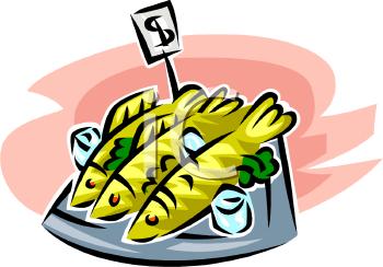 Fish market clipart.