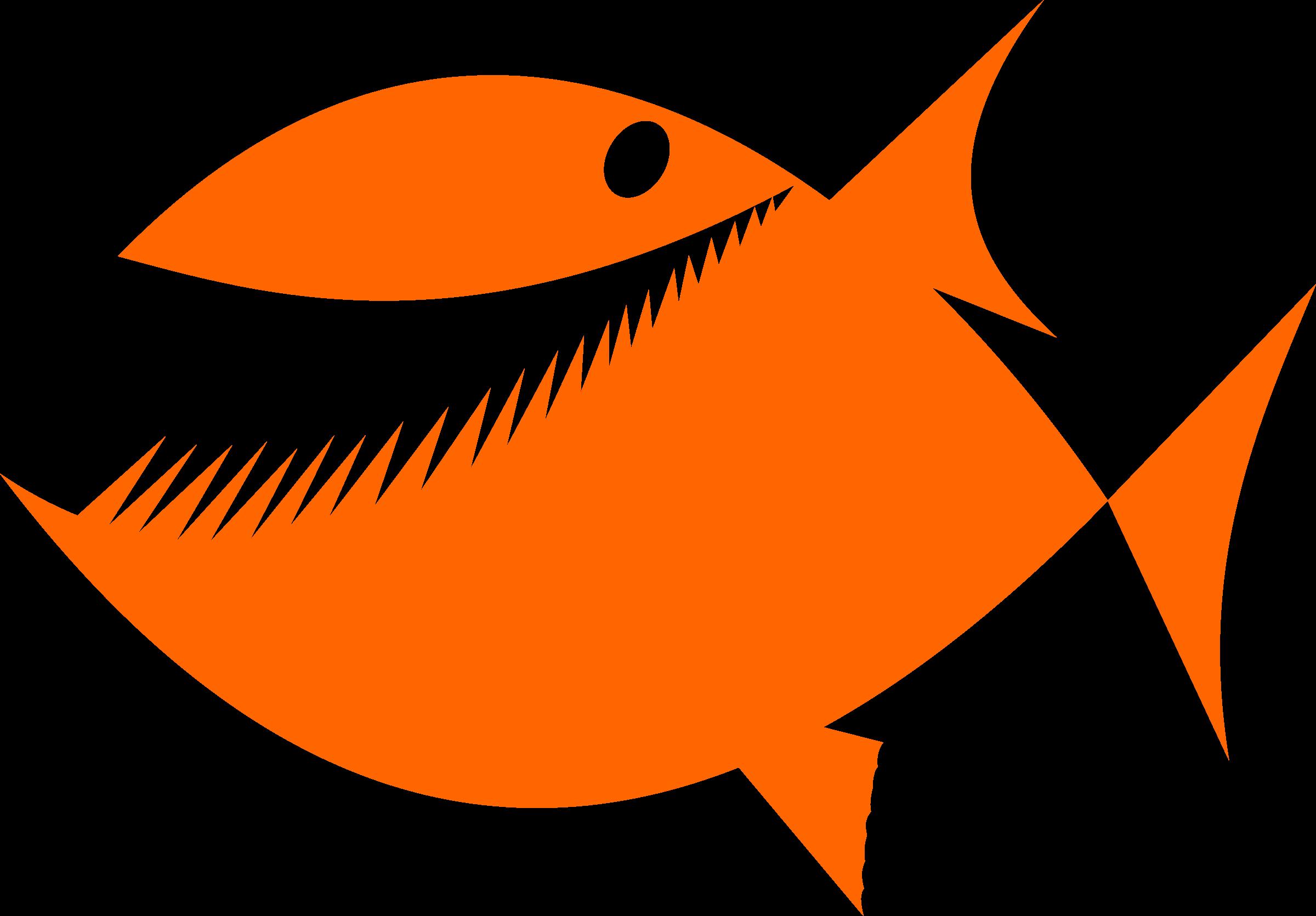 Fish Silhouette Clipart.