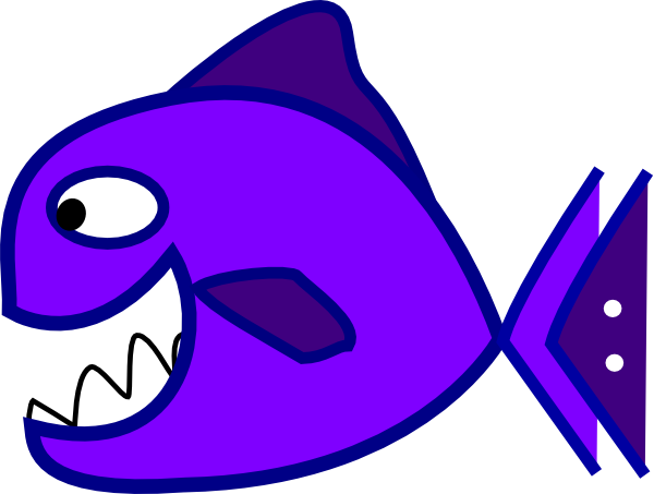 Big mouth fish clipart.