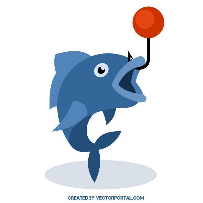 Fish on a hook clipart 3 » Clipart Portal.