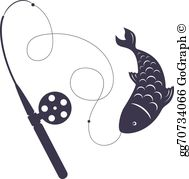 Fish On The Hook Clip Art.