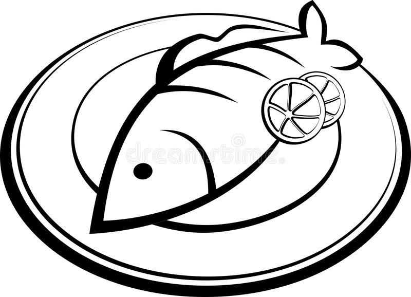 Fish Plate Stock Illustrations.