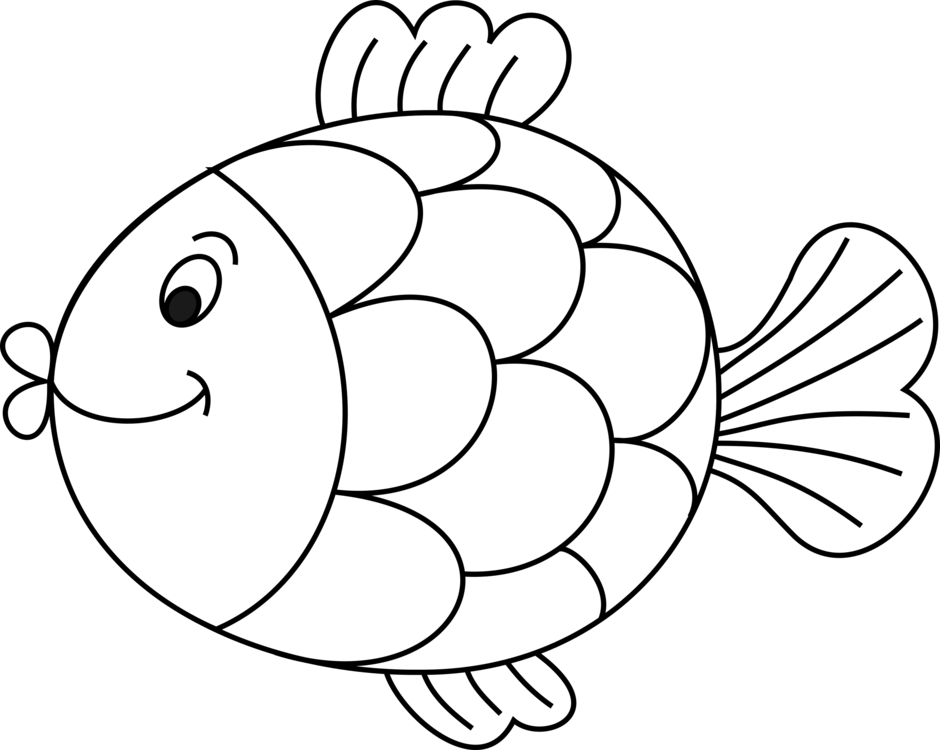 HD Drawing Whitefish Black And White Line Art.