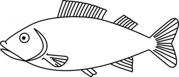 Fish Outline Clipart.
