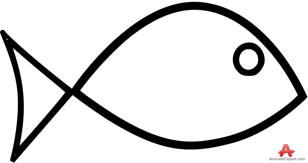 Free fish outline clipart.