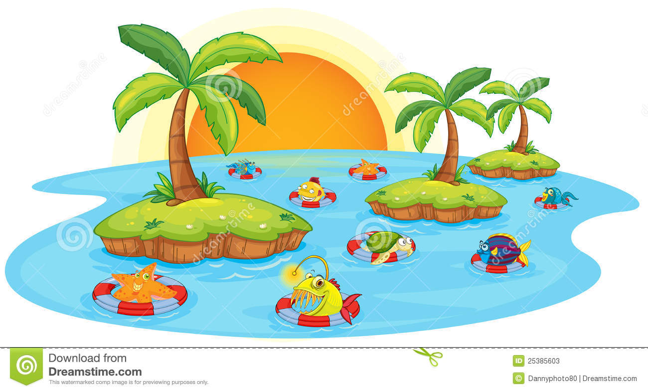 free clipart fish pond - photo #35