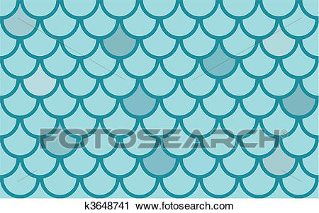 Seamless vector texture with fish scales Clipart.