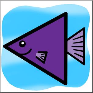 Clip Art: Basic Shapes: FIsh: Trianglefish Color I abcteach.com.