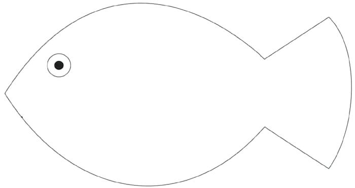 Fish Drawing Template.
