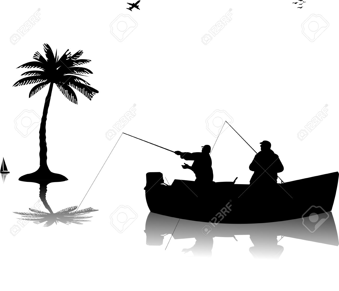 15,390 Fishing Silhouette Stock Illustrations, Cliparts And.