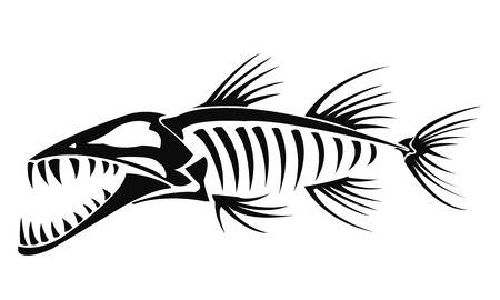 3,121 Fish Skeleton Stock Illustrations, Cliparts And Royalty Free.