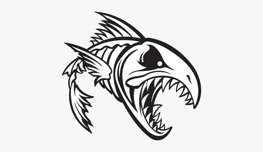 Fish Skeleton Drawing At Getdrawings.