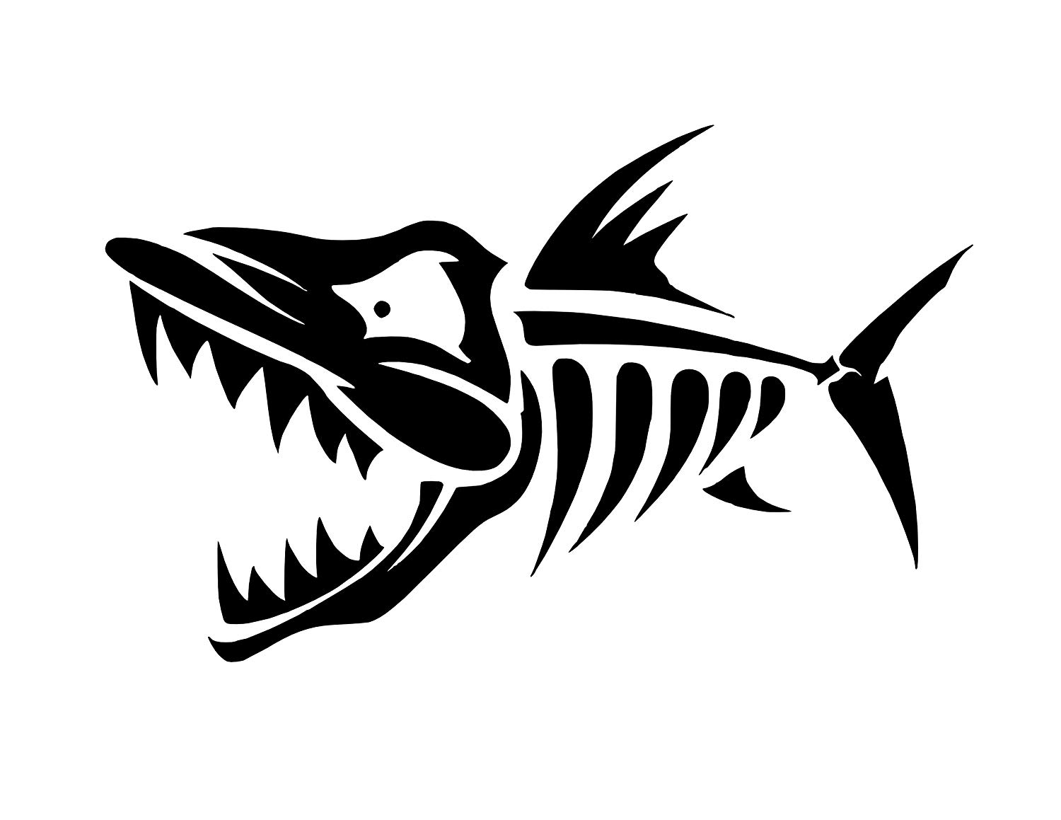 Amazon.com: Fish Skeleton Clipart Vinyl Sticker Decal (10\