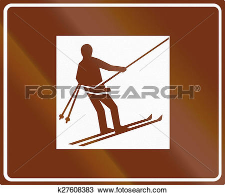 Drawing of Ski Lift In Finland k27608383.