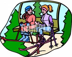 on a Ski Lift.