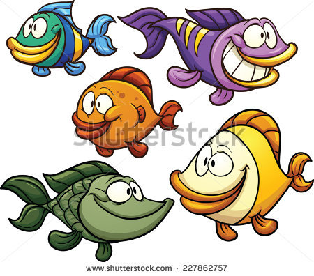 Cartoon Fish Stock Images, Royalty.