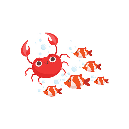 Fish Swarm Clip Art, Vector Images & Illustrations.