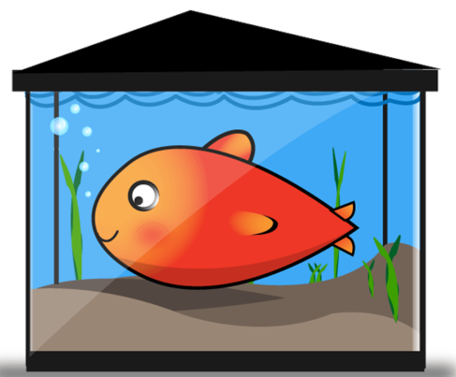 Fish In Tank Clipart.