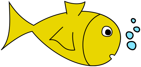 fish w bubbles yellow.