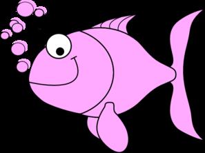 Pink Fish Bubbles Clip Art at Clker.com.
