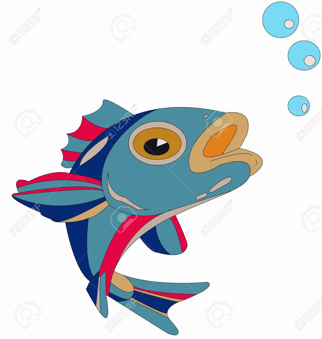 Fish Blowing Bubbles.