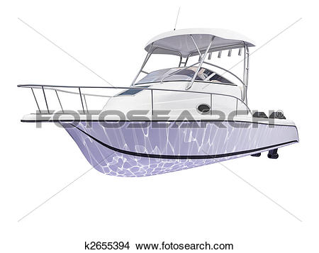 Drawings of Fish Boat isolated back view k2655394.