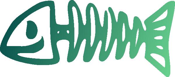 Happy Fish Bone Clip Art at Clker.com.