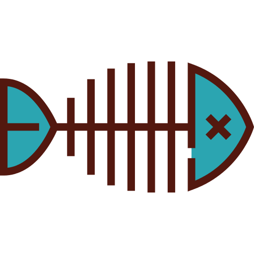 Fishbone PNG Icon.