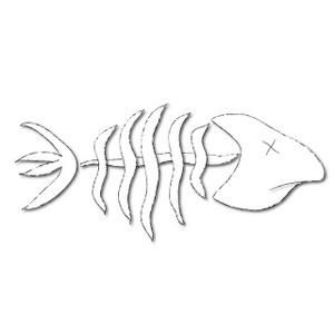 Fish Bones Clipart Image.