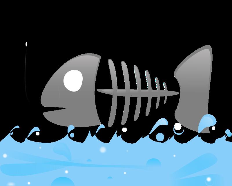 Fish Bones Clipart.