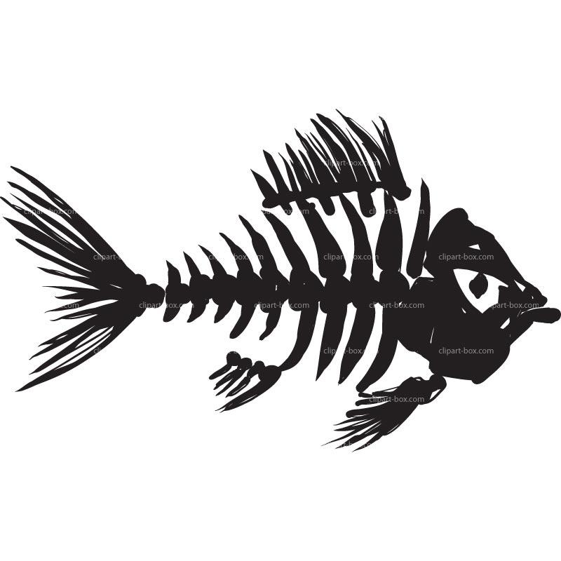 Fish Bones Clipart Clipart Fish Skeleton #Ftlm6g.