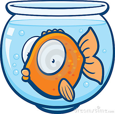 Goldfish Fish Bowl Clip Art Stock Photos, Images, & Pictures.