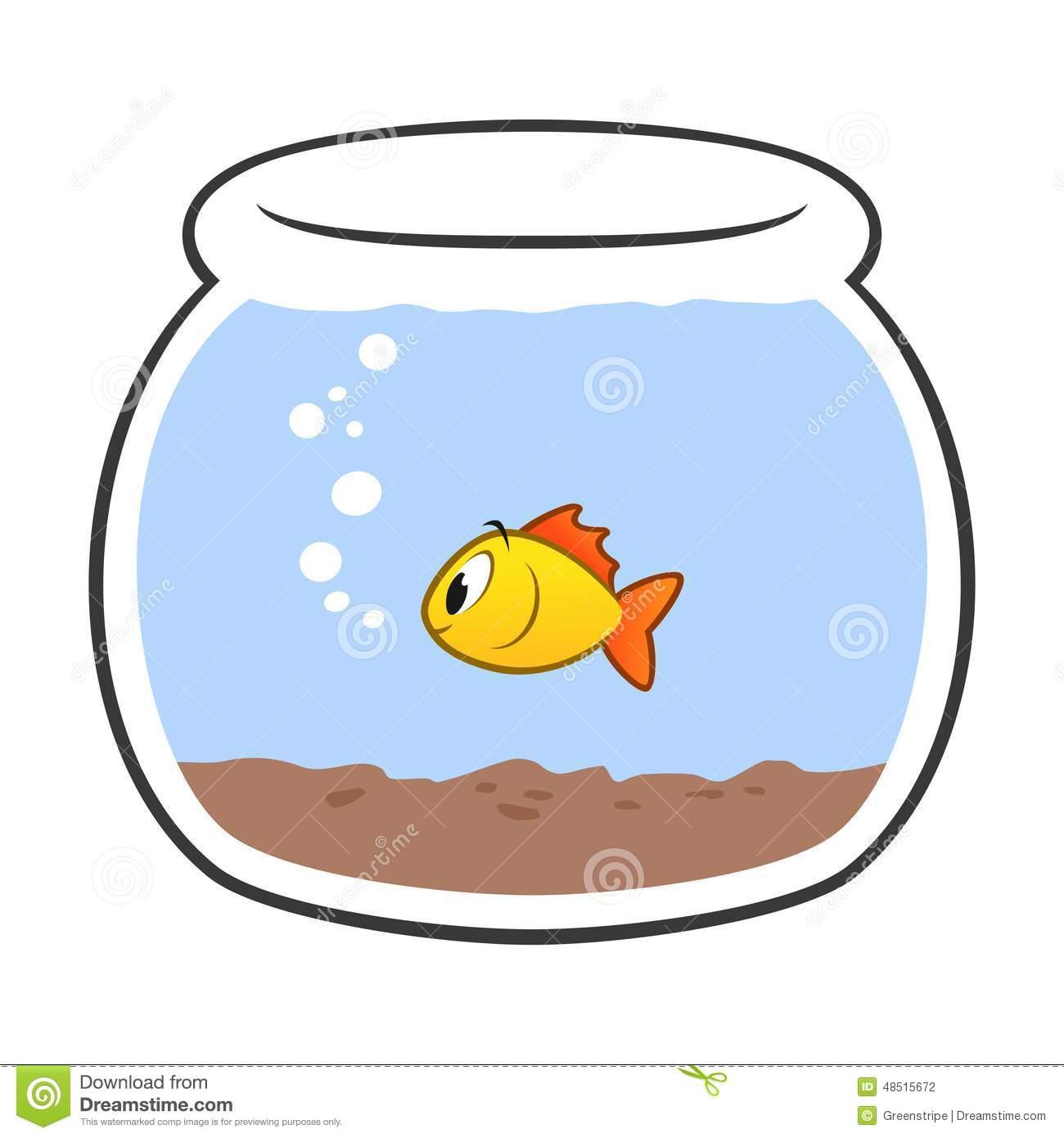 Goldfish Fish Bowl Clip Art Royalty Free Stock Photo.