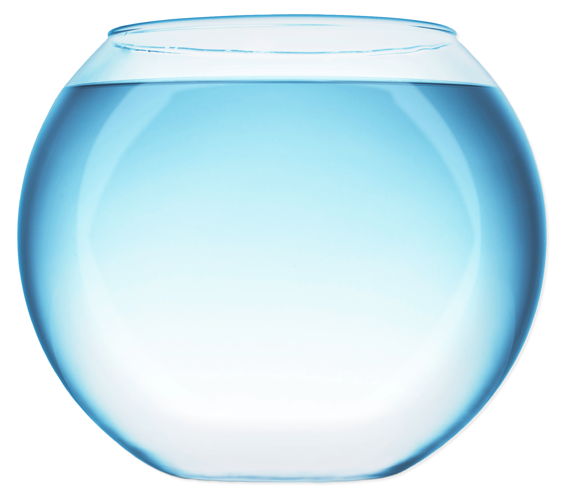 Fish Bowl With Water transparent PNG.