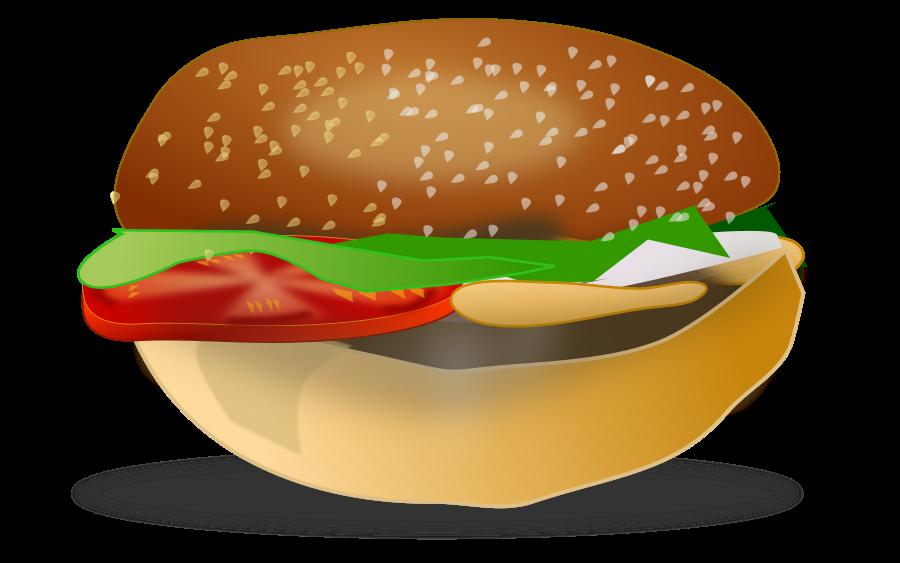 cartoon burger SVG Vector file, vector clip art svg file.