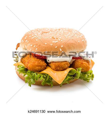 Stock Photography of fish Burger k24691130.