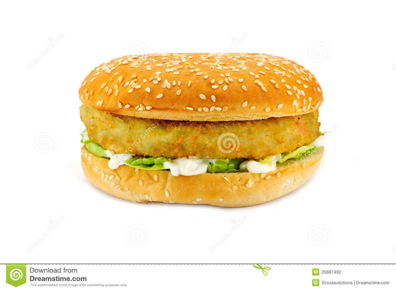 Vegetarian Burger Stock Photography.