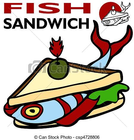 Fish sandwich clipart.